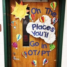 The kiddos helped with the this week. Pediatric Occupational Therapy, Pediatric Ot, Therapy Quotes, Therapy Ideas, School Ot, School Ideas, Dr Seuss Bulletin Board, School Doors, Crafts For Kids