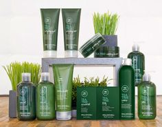 Paul Mitchell Tea Tree Collection..great oil balancing product line especially for people with problematic scalp conditions such as dry scalp, dandruff, and psoriasis.