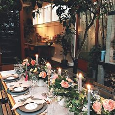 Beautiful table but also curious about that outdoor fireplace