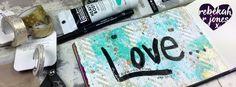 Art Journal Devotional Lettering, Acrylic Ink & Washi – Bible Art Journaling Challenge Week 36