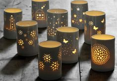 Handmade Home Accessories Handmade porcelain tealights