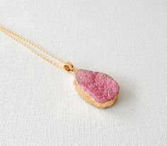 Your place to buy and sell all things handmade Druzy Ring, Arrow Necklace, Trending Outfits, Unique Jewelry, Handmade Gifts, Rings, Dusty Pink, Necklaces, Kid Craft Gifts