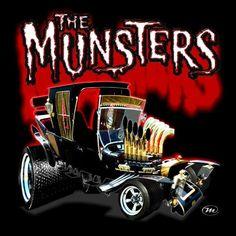 pictures of rat rod trucks Weird Cars, Cool Cars, Munsters Car, Raiders, Cartoon Car Drawing, Cartoon Art, Cool Car Drawings, Garage Art, Automotive Art