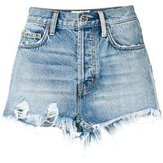 Women Jeans Shorts Outfit Summer Green Plaid Pants Casual Shirt And Je – dogwoodrlily Blue And White Jeans, Faded Black Jeans, Black Jeans Women, Jeans For Short Women, Pants For Women, Short Jeans, Short Shorts, High Waisted Ripped Shorts, Distressed High Waisted Shorts