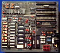 Prototype of the first IBM PC motherboard in 1981