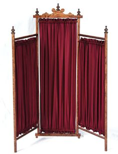 privacy dressing screens | Victorian Child's Panel Dressing Screen