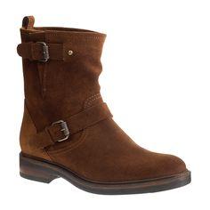 Biker suede boots : boots | J.Crew