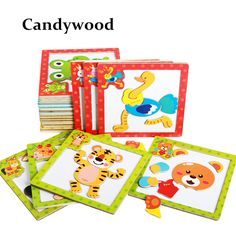 Children 3D Magnetic Puzzle Jigsaw Wooden Toys Cartoon Animals Puzzles Tangram Child Educational Toy for Children  Price: 2.71 USD