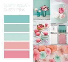 Creative & Unique Teal And Coral Bathroom Decor Coral decor is quite well known in beach homes and you can discover a wide variety of merchandise for sale. Beach coral decor shouldn't be hard to fin… Colour Pallete, Colour Schemes, Color Combos, Old Rose Color Palette, Vintage Color Schemes, Beach Color Schemes, Grey Palette, Pastel Colour Palette, Coral Bathroom Decor