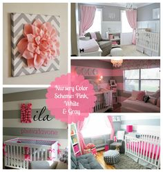 I like that you could use the grey and then switch out the accent color depending on the babies sex. Great way to avoid redoing a nursery for the second child