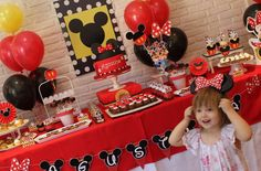 Mickey Mouse / Minnie Mouse Birthday Party Ideas | Photo 1 of 13 | Catch My Party