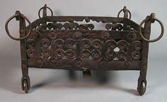 Brazier, Brazier Date: 13th century Culture: Spanish Medium: Wrought iron