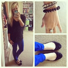Blue + black