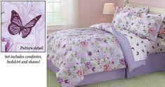 Floral Butterfly Garden Comforter Set