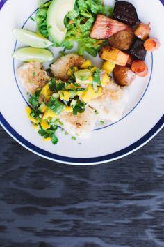 Coconut Crusted Cod with Mango Salsa (AIP-friendly!) -- Recipe by Mickey Trescott - The Paleo Mom