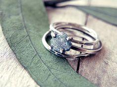 rough diamond ringgold stacking ringstacking ring setalternative engagement ringraw diamond ringwhite diamond ringdiamond ring
