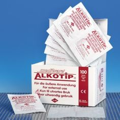 Alkotips swabs offer the largest swab - 90 x 110 mm, folded Saturated in isopropyl-alcohol Easy to grip non-woven fabric pads For external use only Skin Tips, 50th, Alcohol, Packing, Medical, Bag Packaging, Medical Doctor, Liquor, Med School