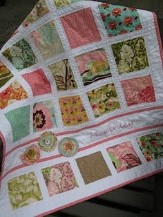 great baby quilt idea with a charm pack maybe someday... Like when I have grand kids!