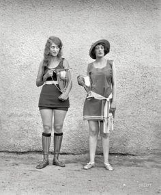 Beauty pageant winners 1920's. My...how times have changed!
