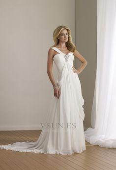 Vestido+de+novia+Fuera+de+casa+Natural+Un+sólo+hombro+gris+claro+Abalorio