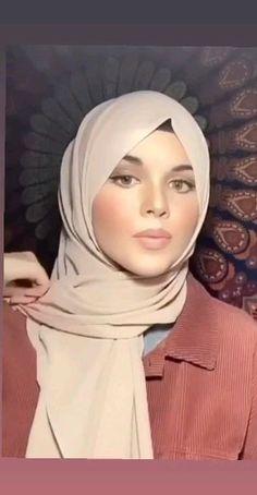 Hijab Casual, Modest Fashion Hijab, Stylish Hijab, Modern Hijab Fashion, Street Hijab Fashion, Muslim Fashion, Fashion Fashion, Simple Hijab Tutorial, Hijab Simple