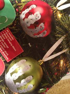 Hand print Christmas ornament