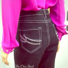 Nine West Flare Jeans Worn once, like new! High waist, fun flare! Stretchy and comfy! Black jeans. Dark wash denim.👗The Chic Shed; A Current and Classic Fashion Curation. 👗 🎁10% OFF BUNDLES🎁 I ❤️ THE OFFER BUTTON😊 ❌NO PP, TRADES, HOLDS❌  💖15% OFF RETURN BUYER BUNDLES💖 Nine West Jeans Flare & Wide Leg