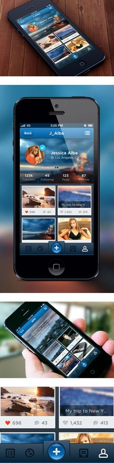 Glory:  User Profile Concept by Roberto Nickson, via Behance