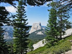 View of HalfDome from the trail leaving Cloud's Rest - just outside Tuolumne