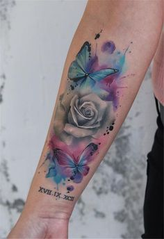 55 Amazing And Gorgeous Watercolor Tattoo Ideas You'll Love - Page 33 of 55 - Ta.- 55 Amazing And Gorgeous Watercolor Tattoo Ideas You'll Love – Page 33 of 55 – Ta… 55 Amazing And Gorgeous Watercolor Tattoo Ideas You'll… - Star Tattoos, Body Art Tattoos, Hand Tattoos, Sleeve Tattoos, Tattoo Sleeves, Skull Tattoos, Tatoos, Watercolor Butterfly Tattoo, Watercolor Tattoo Sleeve