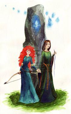 Merida and Elinor.