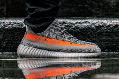 A Closer Look at the adidas Yeezy Boost 350 V2 Kanye west SOLAR RED/STEEPLE…