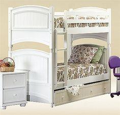 California Princess White Twin Bunk Bed #OCfurniture