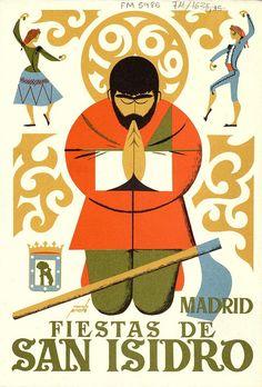 Spanish Poster by Manolo Prieto, 1969, Fiestas de San Isidro, Programa Oficial…