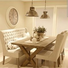 50 Nice DIY Furniture Projects for Dining Rooms Tables Design Ideas - doity. - 50 Nice DIY Furniture Projects for Dining Rooms Tables Design Ideas – doityourzelf - Dining Room Table Decor, Dining Table With Bench, Dining Nook, Dining Room Design, Small Dining Room Furniture, Comedor Shabby Chic, Shabby Chic Dining, Esstisch Design, Table Design