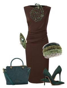 Classic Brown and Teal by sharla-jacobs on Polyvore featuring polyvore, fashion, style, Planet, Acne Studios, Ted Baker, Chanel and Alexis Bittar