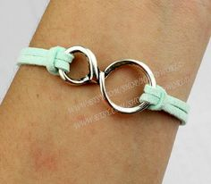 Simple and bright infinity wish bracelet mint green by handworld, $0.99