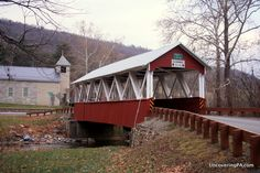 Saint Mary's Covered Bridge is the only covered bridge in Huntingdon County, Pennsylvania. Find out more - http://uncoveringpa.com/covered-bridges-in-huntingdon-county-pennsylvania