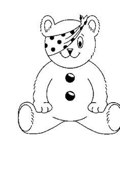 Pudsey Bear Colouring Pages coloring