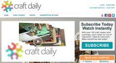 Missed an episode of Craft Daily TV? Never fear, you can catch up on all the episodes here. Click on the episodes below to watch again.