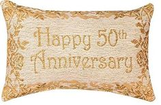 Manual x Decorative Throw Pillow Reversible Word Pillow, Golden Anniversary * Visit the image link more details. (This is an affiliate link and I receive a commission for the sales)