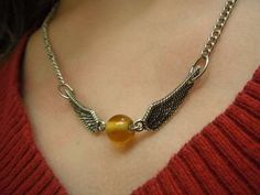 DIY Harry Potter Golden Snitch Jewelry.
