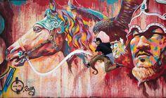 con graffit del Mongolia