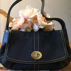 I just discovered this while shopping on Poshmark: Black Coach shoulder bag. Check it out! Price: $55 Size: OS