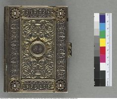 This pocket-size early 16th century Book of Hours is bound in silver.  Catholic Church. Book of hours: manuscript, [not after 1530] MS Typ 10...