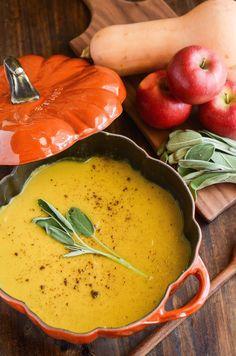 Butternut Squash, Apple & Sage Soup (The Novice Chef Blog)
