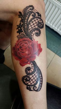 roses lace tattoo - Google-Suche                                                                                                                                                      More