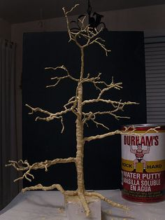 The Tree, part 2 from Otterine Miniature Christmas Trees, Miniature Plants, Miniature Fairy Gardens, Christmas Diy, Haunted Dollhouse, Dollhouse Miniatures, Dollhouse Ideas, Fairy House Crafts, Fairy Houses