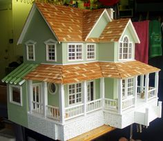 Sage Doll House www.poppieswoodshopdeisgns.com
