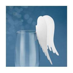 Les 10 marque-places ailes d'ange #themeange #decorationdetable decoration de table thème ange